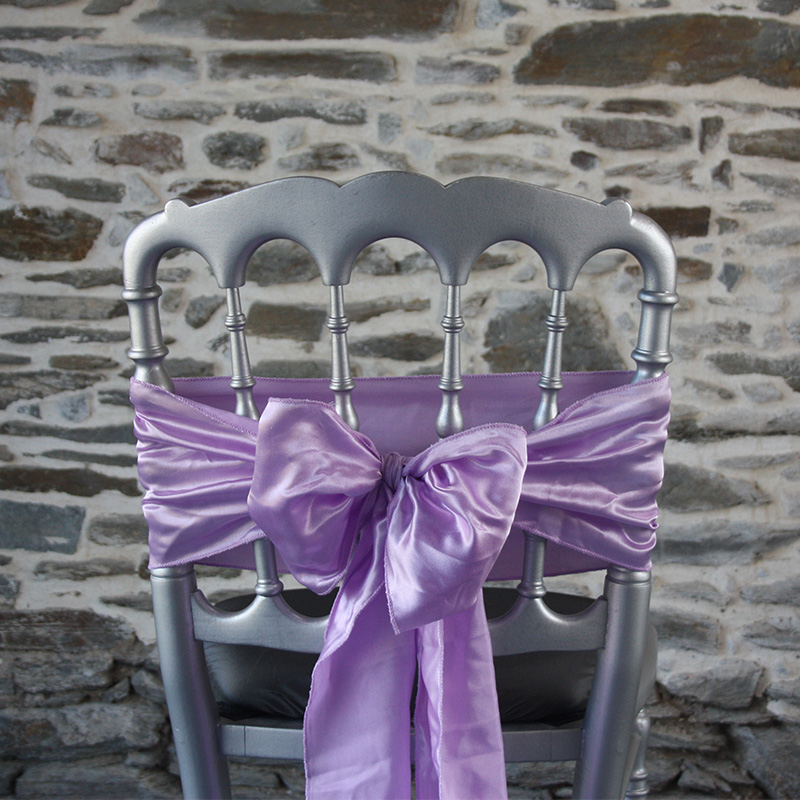 nœud de chaise mariage satin