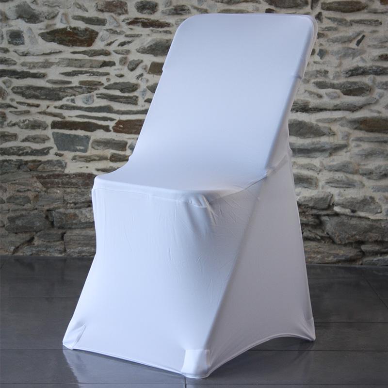 Housse lycra pour chaise pliante 4 pieds