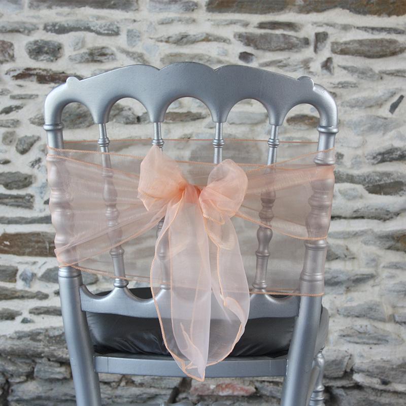 nœud de chaise mariage organza saumon: comment faire un noeud de chaise ?