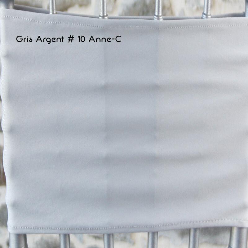 Lycra Gris argent 10 Anne-C